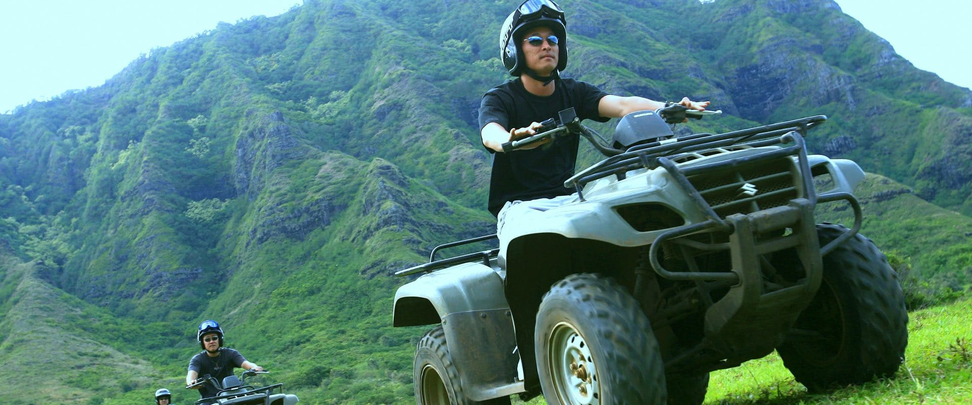 ATV on trails deep into the scenic valleys